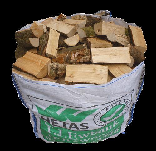 Dumpy bag of air dried hardwood logs tj ewbank